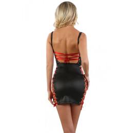 Bas Couture Nude Auto Fixant Motif Baroque Noir Or
